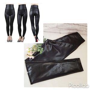 JNT Faux Leather High Waist Leggings